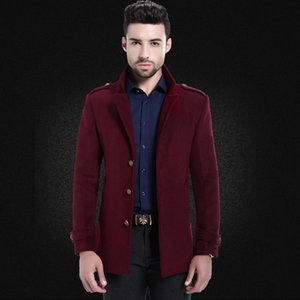 Cockscomb Brand 2020 New Autumn Collection Wool Trench Coats Men Turn Down Collar Single Breasted Woolen Winter Outerwear