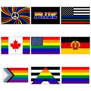 3x5fts Philadelphia Phily Bandiere Etero Ally Progress LGBT arcobaleno Gay Pride di bandiera americana bandiera 90x150cm 9styles RRA3462