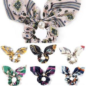accesorios cinta perla de la mariposa nuevo Pearl gran anillo delgado de las mujeres del pelo del nudo del arco del pelo ponytail anillo de la borla de la cinta de toalla cuadrada