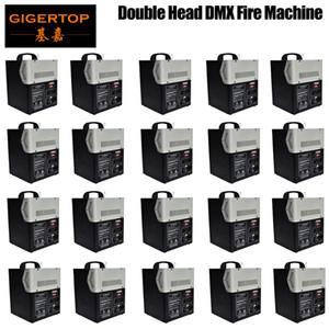 HOT selling 20pcs Lot Two Head DMX Fire Machine Spray Fire Machine DMX Flame Projectors Stage Equipment Wedding Machine effect light DMX512