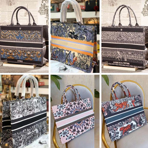 2020 C shopping bag cherry blossom flowers cavans Book Totes Designer handbag D bookbags Printed embroidered bag large capacity new #5 wH5n#