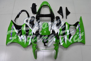 Abs carenatura per Ninja ZX6R 2000 - 2002 Verde Nero Kit di corpo 636 ZX6R 2002 Abs carenatura per Kawasaki ZX6R 00