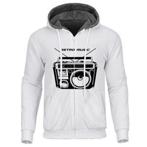 Casual Hip Hop Men Zipper Sweatshirt 3D Music Thick Hoodies Coats Winter Autumn Men Zipper Hoodies Long Sleeve Jackets Plus Size
