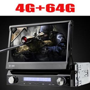 Evrensel 1 din Android 9 8 çekirdekli Araba DVD oynatıcı GPS Wifi BT Radyo BT USB 64 GB ROM 4G SIM LTE Ağ SWC RDS CD OBD2