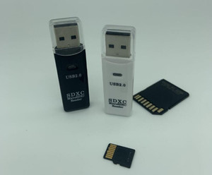 2 in 1 High Speed USB 2.0 3.0 SDXC TF T-Flash Memory Card Reader Adapter For SD For SDHC For SDXCMMC For MMC2 For RS MMC MMC 4.0 FC2020