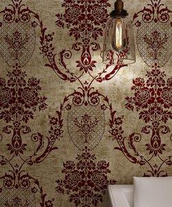 Sonoro 53 centímetros de largura 10 metros de decoração de casa de luxo wallpaper econômica brilhante decoração de veludo rebanho papel de parede