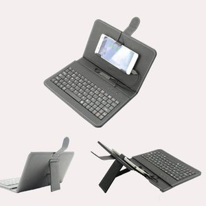Cgjxs Mobile Phone Teclado Teclado Android Mobile Phone Wired externa Holster Universal Mini Keyboard bate-papo bom ajudante