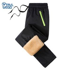 TRVLWEGO Winter Warm Soft Shell Hiking Pants Children Waterproof Outdoor Sport Fishing Ski Camping Trekking Fleece Trousers A269
