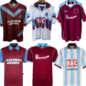 91 92 93 95 97 West-Retro Cole Di Canio Lampard Dicks 1991 1992 Trikot camiseta 100. Retro Klassiker 1993 1995 Start Ham Retro Fußball-Trikot