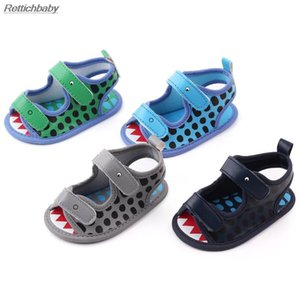 Newborn Summer Baby Boy Girl Shoes Crocodile Printing Toddler Shoes Boy Girl Prewalker Sandals Infant Baby Cartoon 0-18M