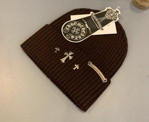 Comparar con similares productos que 20ss Crow CH corazón Europea y la etiqueta de moda americana de cuero de punto de lana VER unisex sombrero