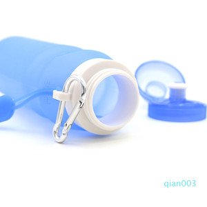 Coupe Creative silicone pliable Sports de plein air marchandises Bouteille d'eau Escalade Voyage boisson Portable Kettle Pure Color 13xc Ww