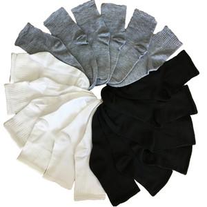 Siyah Gri Beyaz Çorap Erkek Çorap Erkekler Pamuk Esneklik İş Uzun Mürettebat Sonbahar Kış Meias Homens 10pcs 5pair / çok Isınma