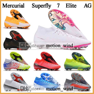 GIFT BAG Kids High Ankle Football Boots Boys CR7 Mercurial Superfly 7 Elite AG Soccer Shoes Mens Womens Superfly VII Neymar Soccer Cleats
