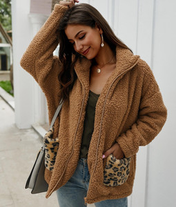 Designer Original fur clothes Femme Autumn Winter Thick Womens fashion Sweater top Wrap wool Cardigan Shawl coat jacket warm Leopard00