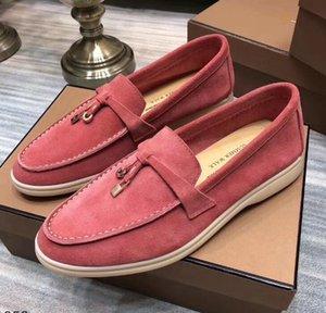 Alexander McQueen GUCCI Valentino Balenciaga Daim Chaussures Hommes Loro Marche chaussures de luxe nubuck Flats concepteur de verrouillage Slip-on chaussures robe de grande taille