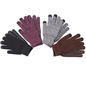 Maglia guanti caldi di inverno di autunno ha ispessito più velluto Outdoor Guanti antiscivolo antivento schermo lana tocco comodo Guanti VT1698