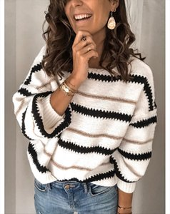 New Women Autumn Long Sleeve Sweater Loose Fashion Patchwork O neck Sweater Winter Pullover Sexy Tops S 2XL Female top Jumper