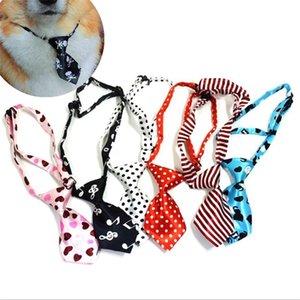 Щенок галстуков Dog Tie New Kids Регулируемая Боути Multicolor удобно галстука Pet Comfy Cravat точка плед strip10pcs / лота