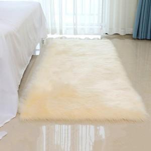 Imitation Wolle Teppichbodenmatte Plüsch Plüsch Wohnzimmer Couchtisch Sofa Schlafzimmer Nacht Decke
