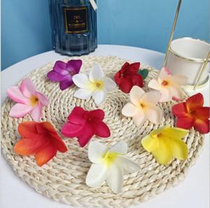 تقليد Plumeria الزهور الديكورات المنزلية زهرة إكليل مصنع محاكاة البيض زهرة اصطناعية زخرفة زهرة الحرير قماش الفن