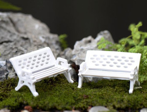 El Mini Modern Park Bankları Minyatür Bebek Evi Courtyard Dekorasyon Peri Bahçe Minyatürler Aksesuarları Oyuncaklar