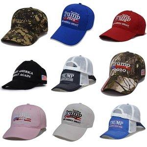 New Donald Trump Hat 2020 Großhandel Keep America Große Camo MAGA Kappen Günstige justierbarer Baseball-Cap # 606