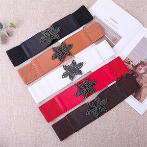 Frauen Breite elastischer Gürtel Kleid Gürtel Stretch elastische breites Korsett Taille Fashion Personality Buckle Art und Weise # T1P
