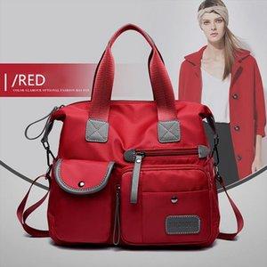 DIHOPE Womens Multi pockets Shoulder Bag New Fashion Portable Outdoor Travel Zipper Multi functions Large Capacity Handbags Drop Shipping