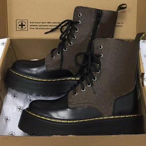 Новая ретро Jadon платформа загрузки Дизайнер Мартин обувь из натуральной кожи ботильоны боевых ботинок зимы пинетки хорошего качества с коробкой