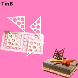 2019 Triangles Silicone Cake Mold Sugar Craft Fondant Mould Chocolate Molds Baking Tools For Cakes Birthday Cake Border