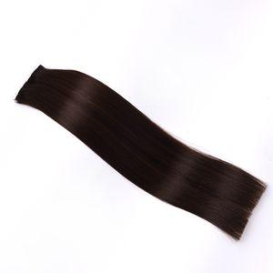 Tape In Human Hair Extensions 20pcs #1B Off Black Tape Human Hair Extension Straight PU Skin Weft Hair