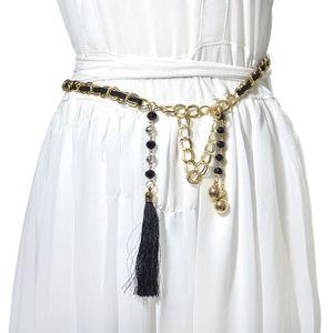 Designer 2020 New Ladies Metal Chain Rhinestone Inlaid Thin Women Dress Skirt Accessories Waist Chain Belt Bg-1049