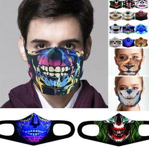 Azioni USA! Cotone antipolvere di halloween bocca face maschera anime cartoon fortunato dente da donna uomini muffole viso bocca maschere creativo partito maschere fy9180