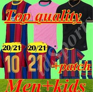 BARCELONA futbol forması 20 21 camiseta de futbol ANSU FATI 2020 MESSI Griezmann DE JONG Maillots de futbol forması erkekler çocuklar kiti camisa