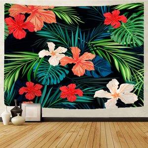 Coperta Tropical fiore pianta cartone animato indiano Mandala HippieTapestry Wall Hanging zingaresca della Boemia Psychedelic Tapiz Witchcraft Tapestry