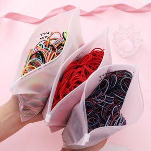 100pcs Set Bag Packed Girls Cute Colorful Elastic Bands Gum For Ponytail Holder Scrunchie Headband Fashion Hair Accessories