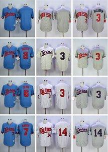 2019 Nuovo 2 Brian Dozier Uomini maglie cucito 3 Harmon Killebrew 7 Joe Mauer 14 Hrbek baseball maglie formato S-XXXL