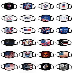 Máscaras bandeira americana Presidente Rosto Eleição máscara de pano de algodão Anti-poeira Máscara Facial Mantenha América Grande Moda lavável em branco máscara preta