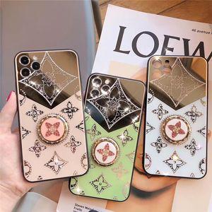 Luxuxdiamanten mit Goldring-Halter-Kasten für IPhone 12 Pro MAX 6.7Inch Schutzmaßnahmen zurück Bucht-Kasten für Ip 11 XR XS MAX 8 7 6 Plus SE2020
