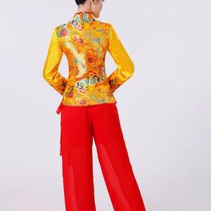 New mittleren Alters und ältere nationale Kleidung Yangko Fan Kostüm nationalen Tanzbühne Taille Unterstützung Performance Kostüm Square Dance