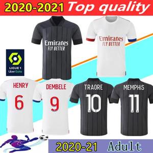 2020 2021 أولمبيك ليون لكرة القدم الفانيلة ممفيس تراوري FEKIR كرة القدم قميص 20 21 OL LYON الأعور مايوه دي القمصان القدم كرة القدم الدوري الفرنسي 1