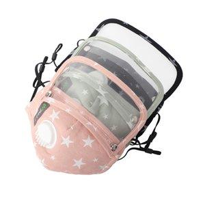 Kind Anti Staub Gesichtsmaske Abdeckung mit Ventil PM2.5 Atemschutz Gesicht Mund Baumwolle Masken Respirator Waschbar wiederverwendbare Masken