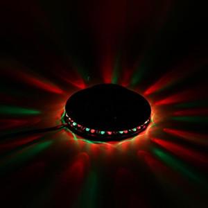 Colorful Rotating RGB LED Stage Light Xmas Party Effect Light Magic Double Balls LED KTV Bar DJ Disco Light Dropshipping
