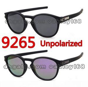패션 디자이너 선글라스 LATCH 9265 빈티지 라운드 프레임 태양 안경 낚시 케이스 및 상자와 스포츠 남성과 여성 선글라스