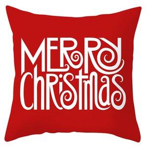 Père Noël Elk Snowflake série Taie rouge Joyeux Noël Canapé Throw Taie Noël Nouvel An Taie d'oreiller 40 modèles EWD745