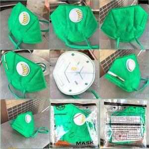 kn95 95+ маска питания завода розничной упаковке 95% фильтр 6 слой конструктора маска для лица с активированным углем Дыхательные маски респиратора клапан Mascherine
