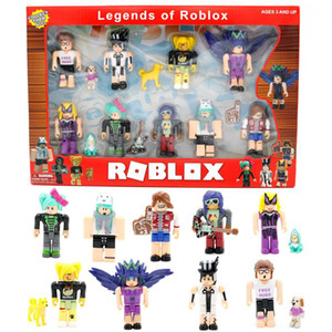 Kids Game 7cm Figure Pack Nine Anime Dolls Cartoon ROBLOX Model Figures Christmas Blocks Building Gifts Boys Action Toys Mdpll