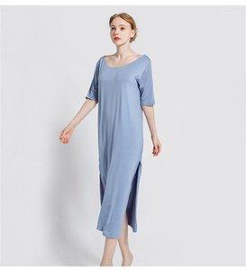 Tasarımcı Sleepshirts Seksi Stil Backless Kısa Kollu Gevşek Kadın pijamalar Artı boyutu İç Geleneksel Womens Womens