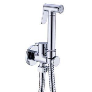 main spray bidet en laiton chromé tenue Shattaf douche bidet pulvérisateur anale propre robinet sanitaire